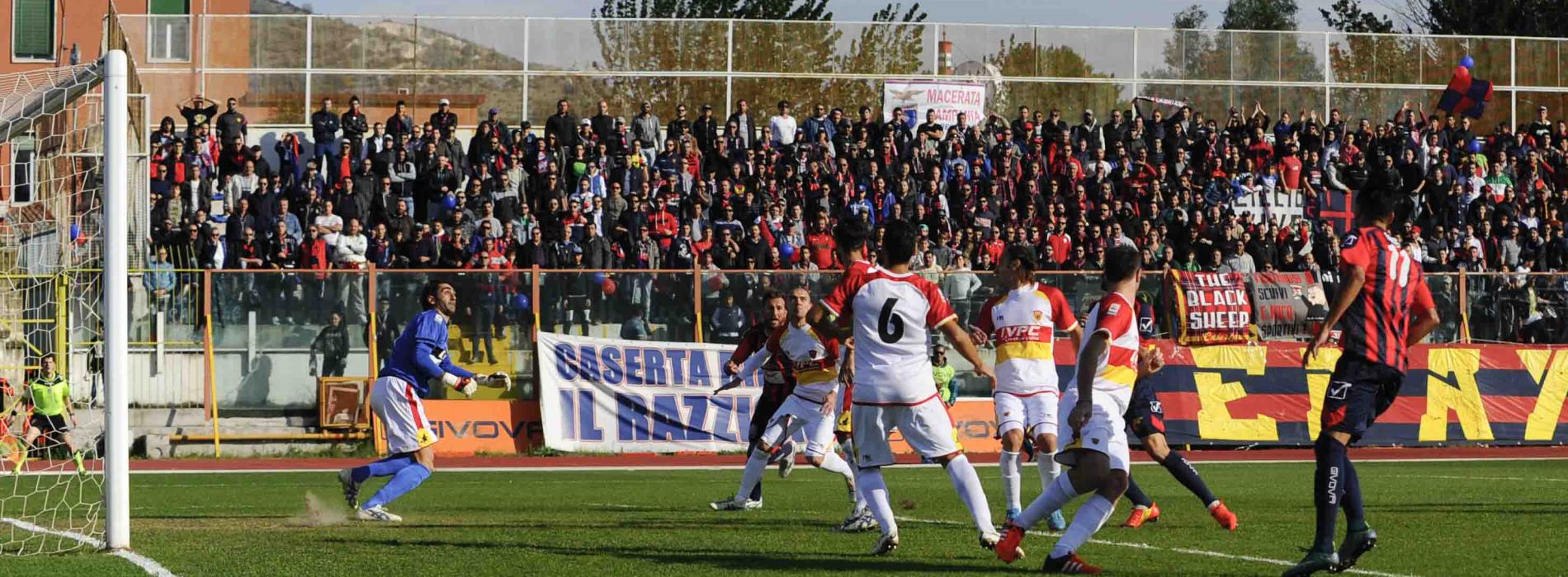 Una Casertana stregata dal Benevento perde per 6-0