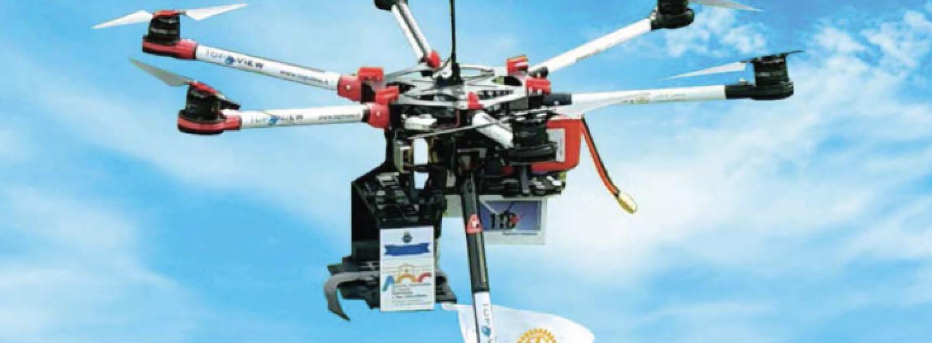 Progetto DroRotary. Martedì 10 maggio alla Reggia