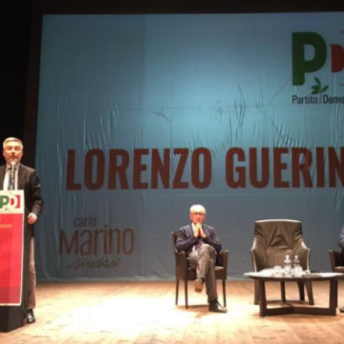 Il vicesegretario nazionale del Pd, Lorenzo Guerini, a Caserta: Carlo Marino l'uomo giusto per guidare la città