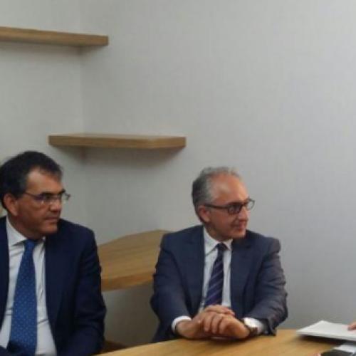 Il ministro Martina all'Enoteca provinciale di Caserta
