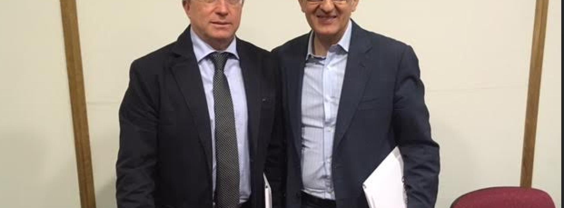 Marino incontra il vicepresidente della Regione Campania, Fulvio Bonavitacola