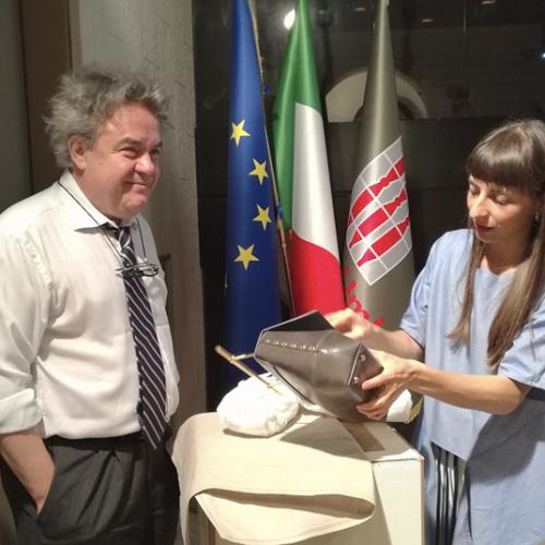 Nasce il brand Reggia Collection. Il monumento protagonista di creazioni di moda prodotte in Umbria