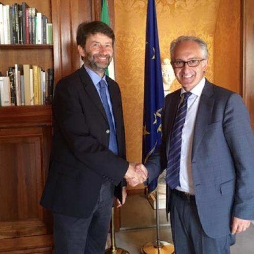 Il sindaco Marino in visita dal Ministro dei Beni e delle Attività Culturali e del Turismo, Franceschini