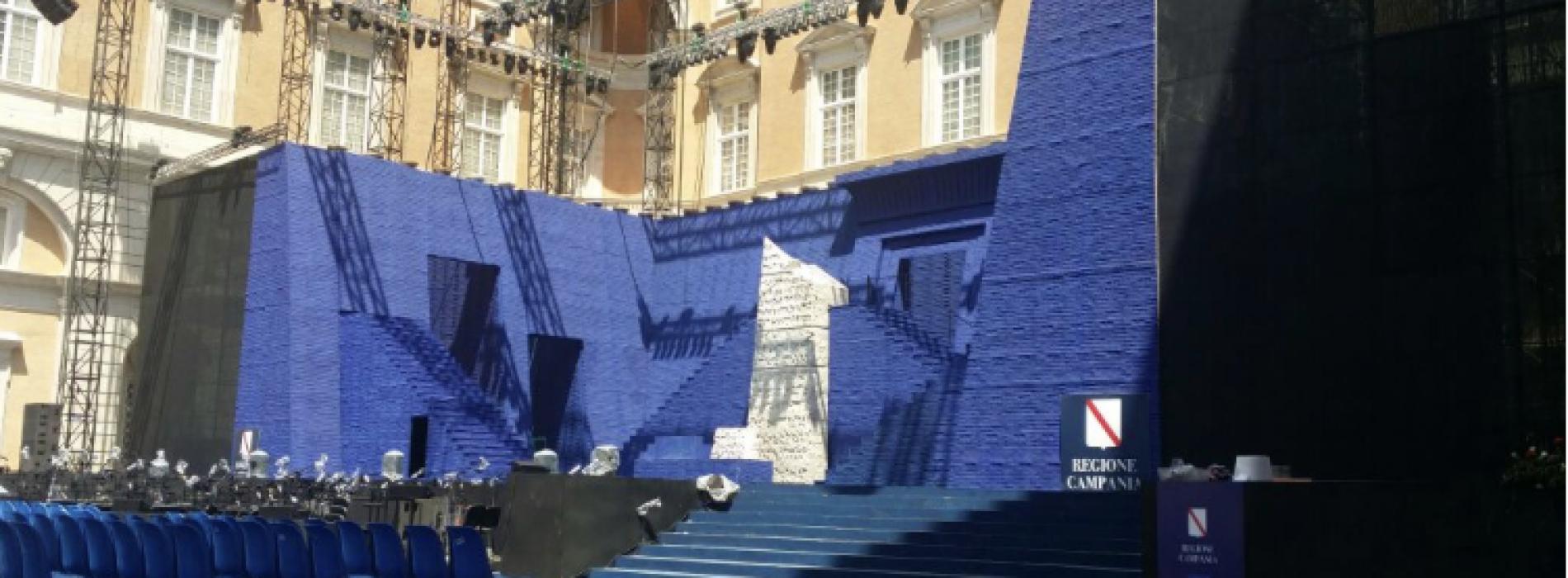 Un'Estate da Re atto secondo. Venerdì il Nabucco secondo Oren. Maxischermo davanti alla Reggia
