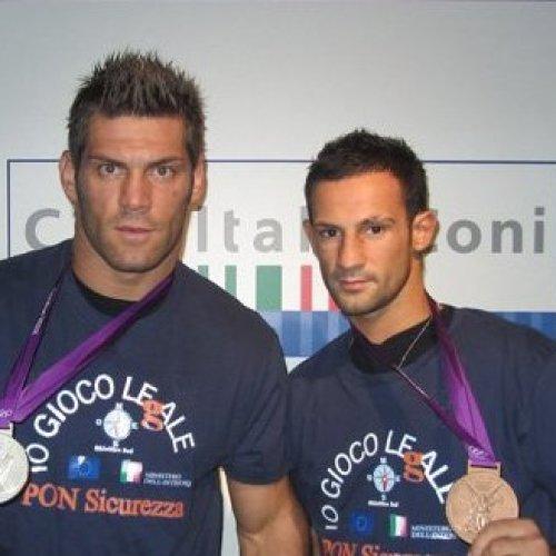 Russo e Mangiacapre sul ring di Rio. Caserta è con loro