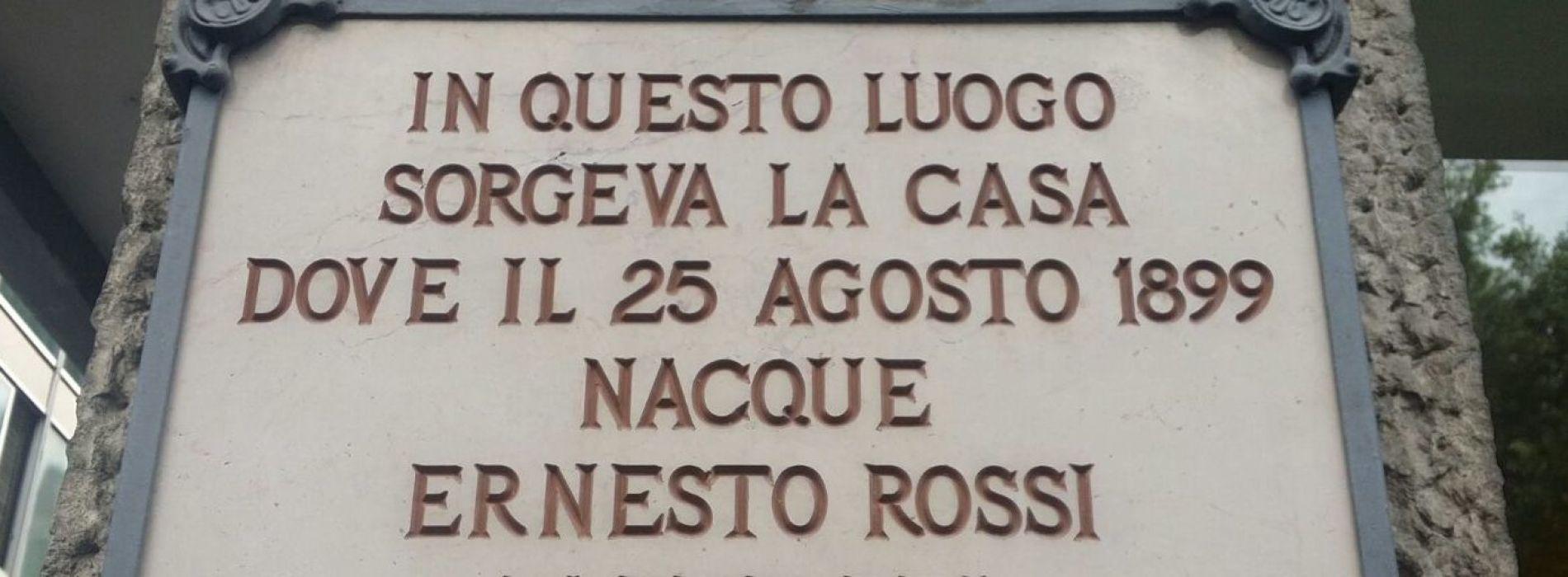 Ernesto Rossi, quel pezzo di Caserta a Ventotene