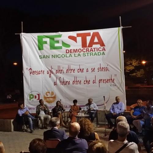 San Nicola la Strada, Democratici in festa alla Rotonda