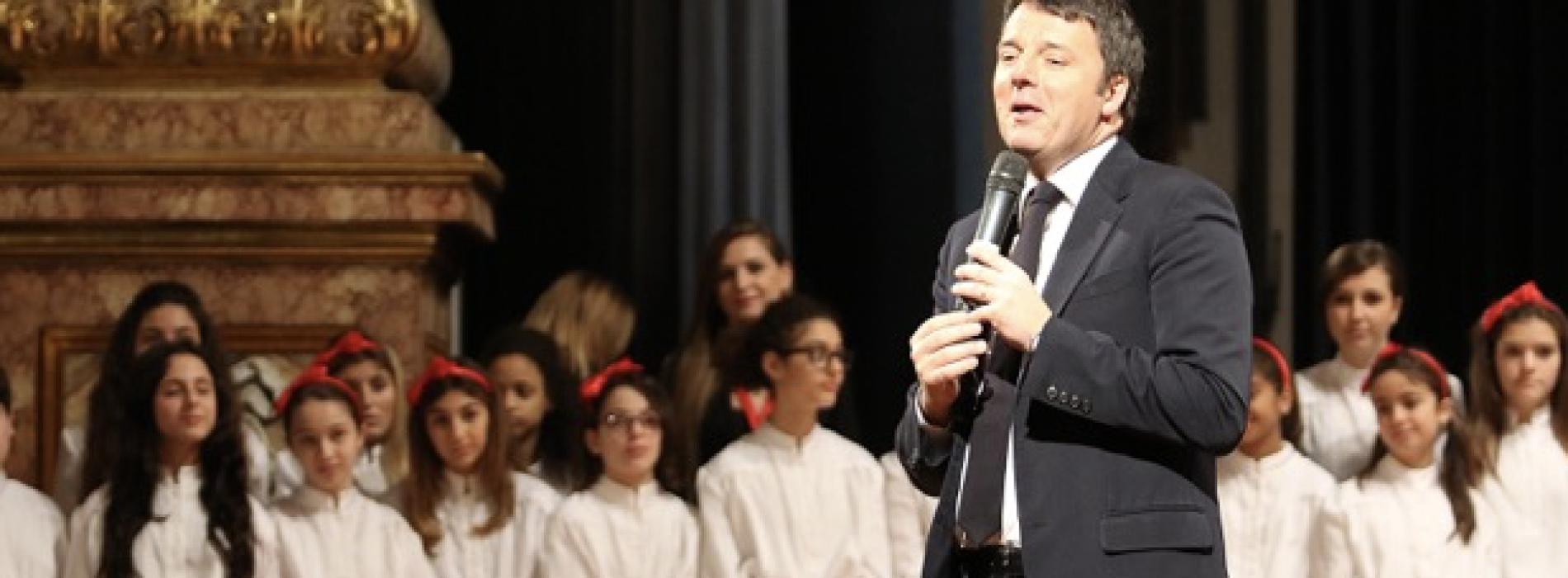 Confermato. Il premier Renzi va a scuola a San Tammaro