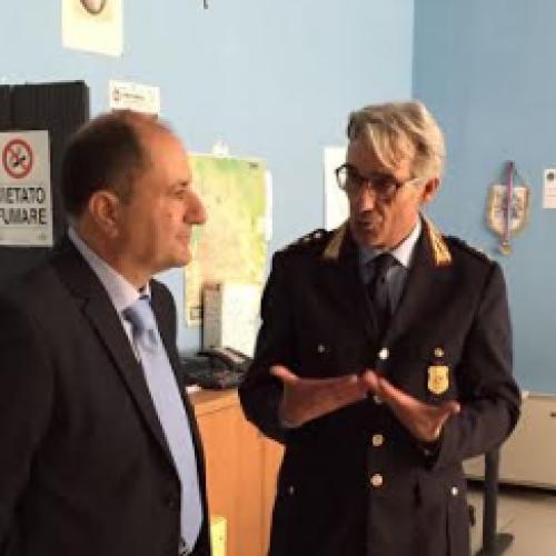Il neo questore Borrelli ospite della Polizia Municipale