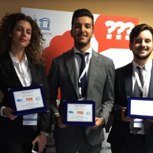 Premio Marketing Fox. Sul podio tre studenti di Economia