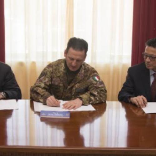 """Ospedale di Caserta e Brigata """"Garibaldi"""", firmata l'intesa"""