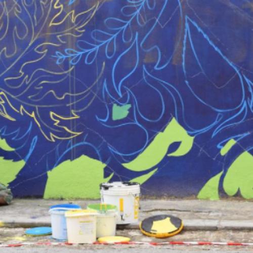 Street art a Caserta, arrivano venti e correnti di Gola Hundun