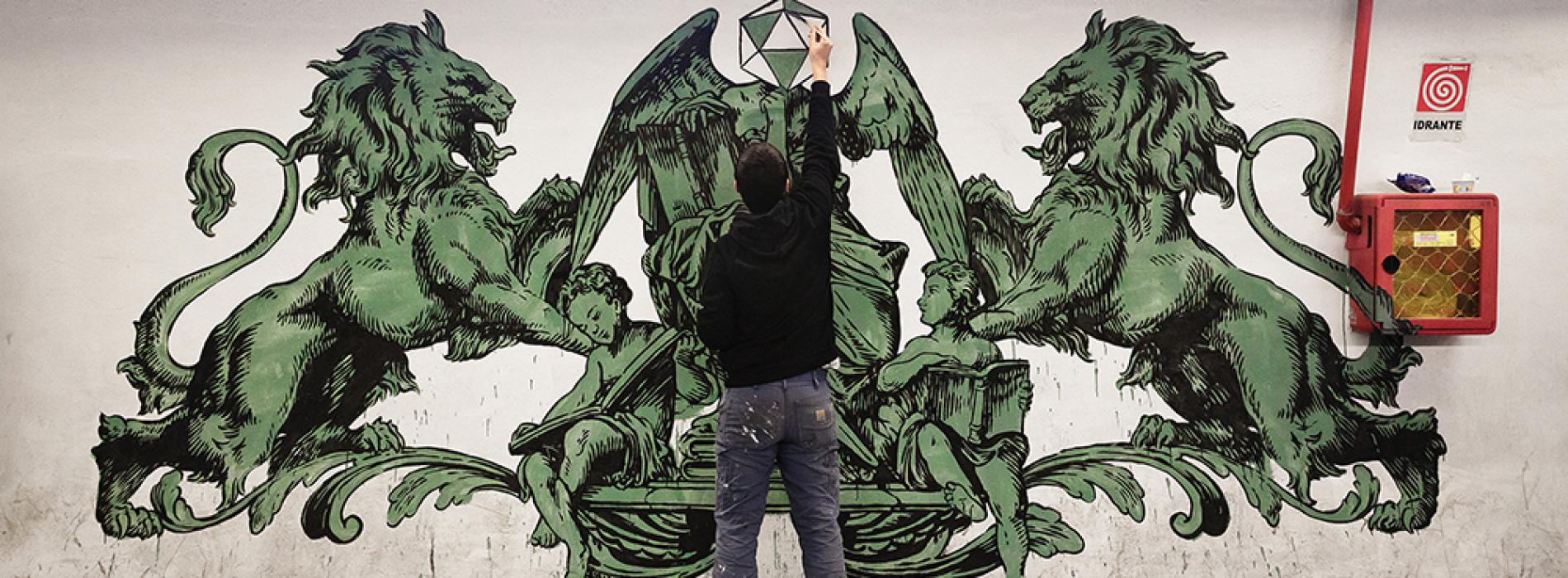 """""""Room service"""", la Reggia di Caserta si apre agli street artist"""