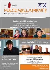 Manifesto Cerimonia di Premiazione PulciNellaMente