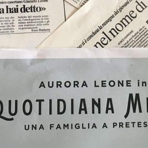 Quotidiana Mente, il lessico famigliare visto da Aurora Leone