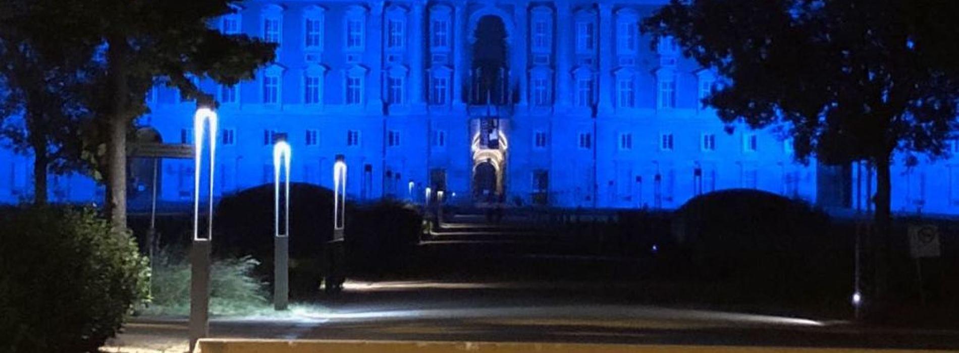 Reggia di Caserta, per una notte si veste di azzurro per la Lilt
