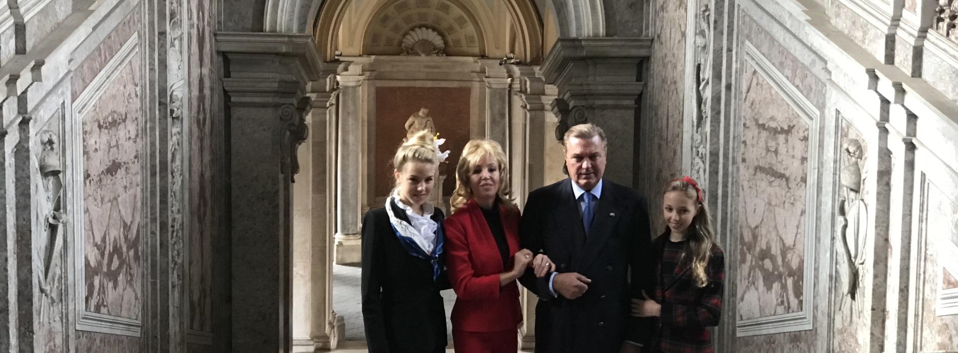 Carlo e Camilla di Borbone alla Reggia di Caserta