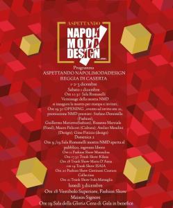 Programma Aspettando Napoli Moda Design