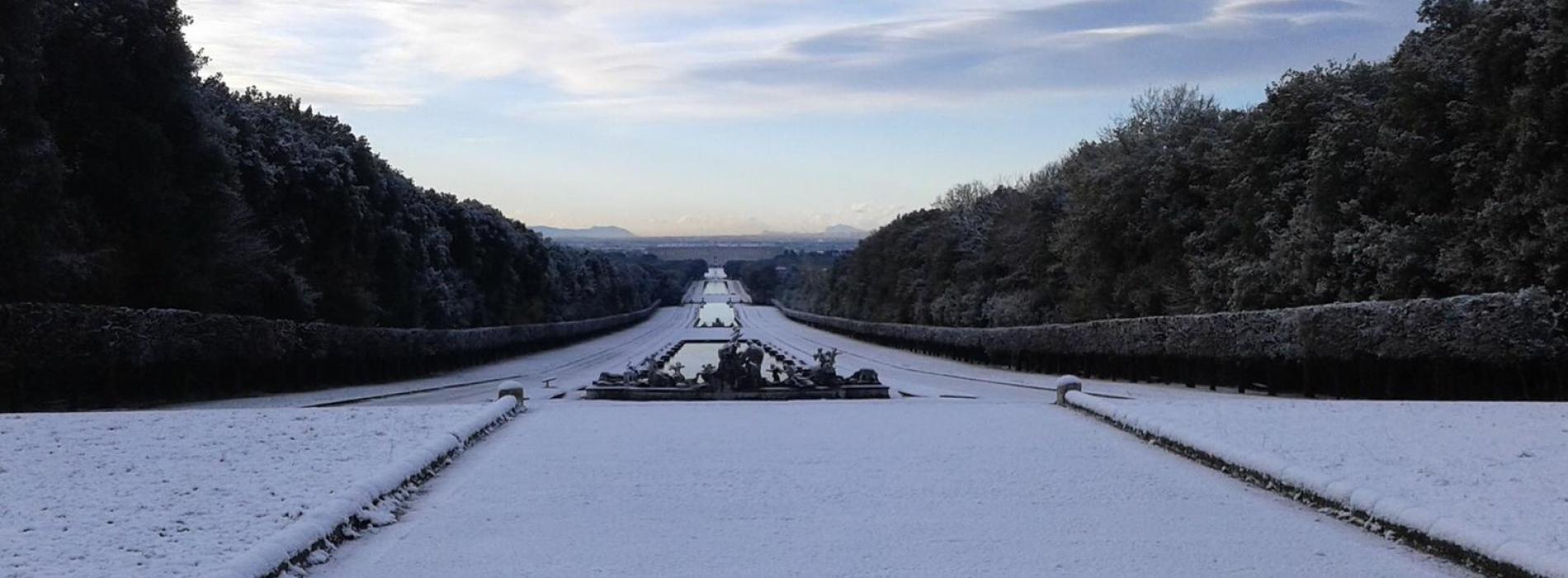 Terra dei fiocchi. Splende sotto la neve la provincia di Caserta