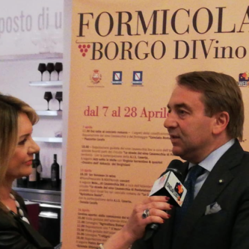 Formicola Borgo Divino. Tommaso De Simone presidente Camera di Commercio