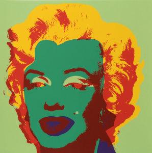 -Andy Warhol -Marilyn 11.25 - serigrafia a colori su carta, cm. 91,5 x 91,5 - Edizione Sunday B Morning