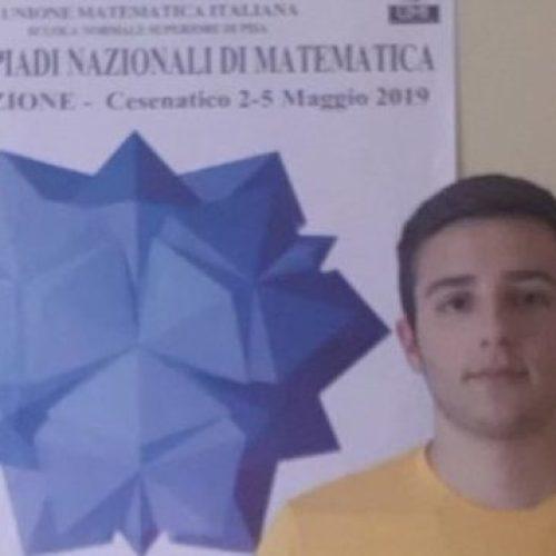 Olimpiadi di Matematica. Sul podio uno studente del Diaz