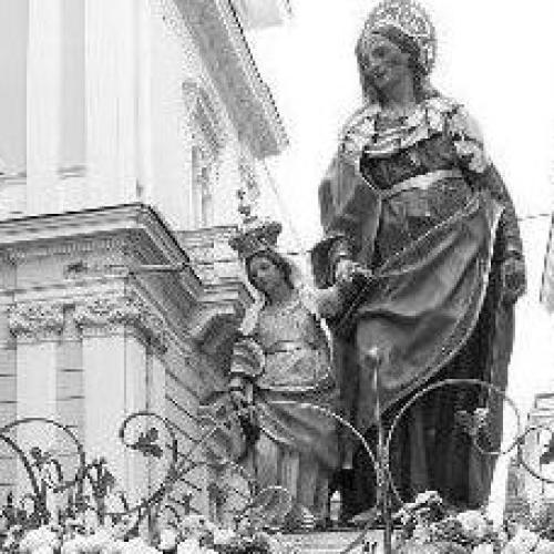 Accollatori di Sant'Anna a Caserta, la santa in giro per la città