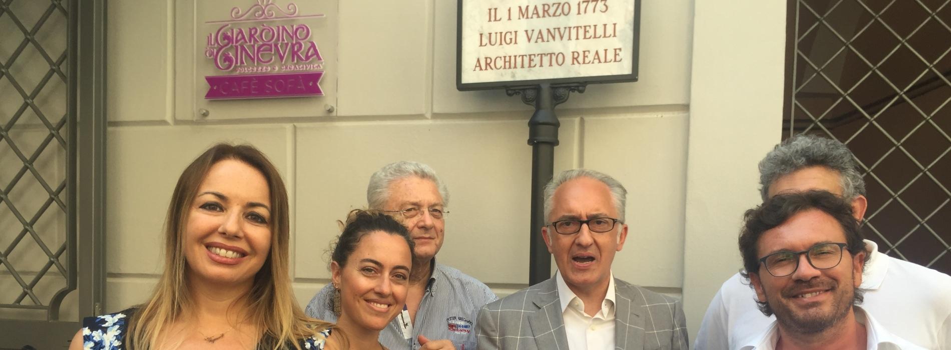 La vera casa di Luigi Vanvitelli. Ora c'è la targa
