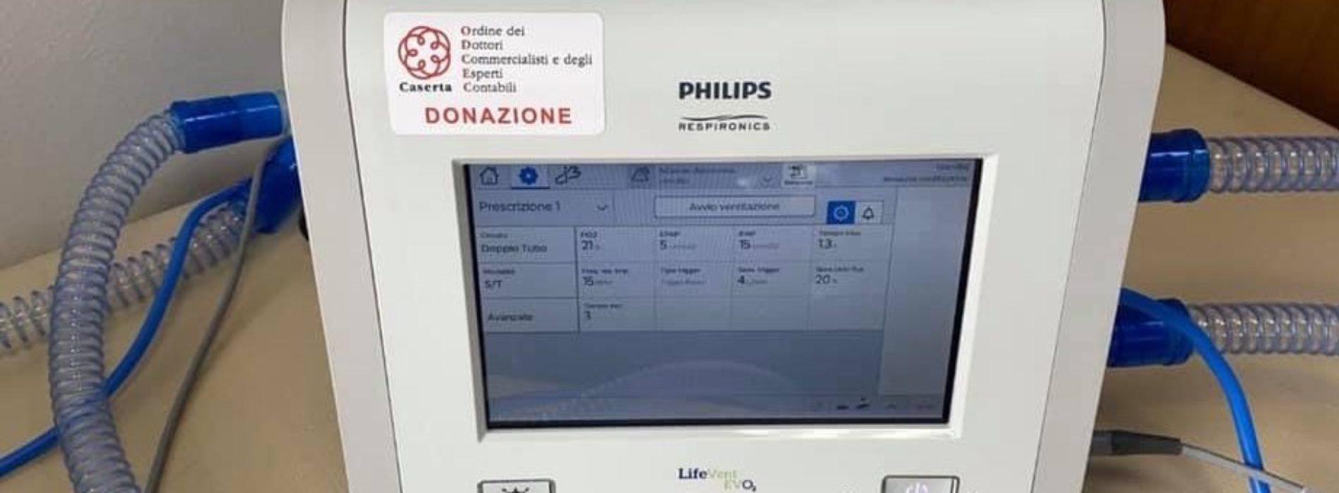 Commercialisti Caserta, donato un respiratore all'Ospedale