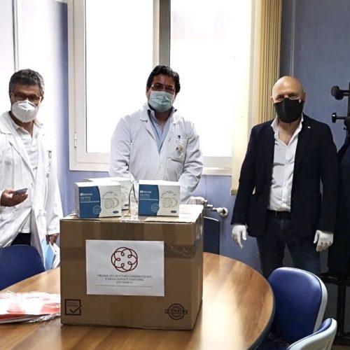 Ordine Commercialisti, mille mascherine per l'Aorn di Caserta