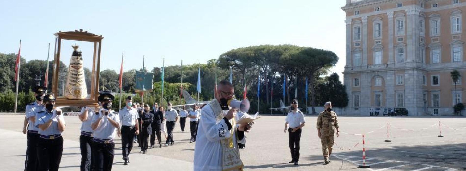 Arma Azzurra, l'Effige della Madonna di Loreto lascia Caserta