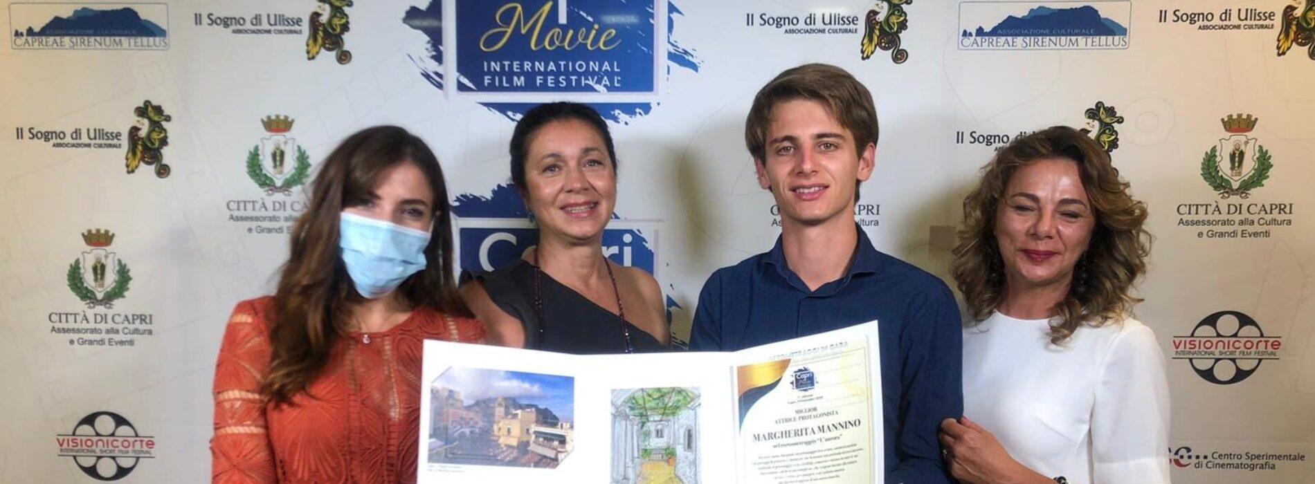 Capri Movie. Premio miglior attrice protagonista al corto L'Aurora di Spazio Donna