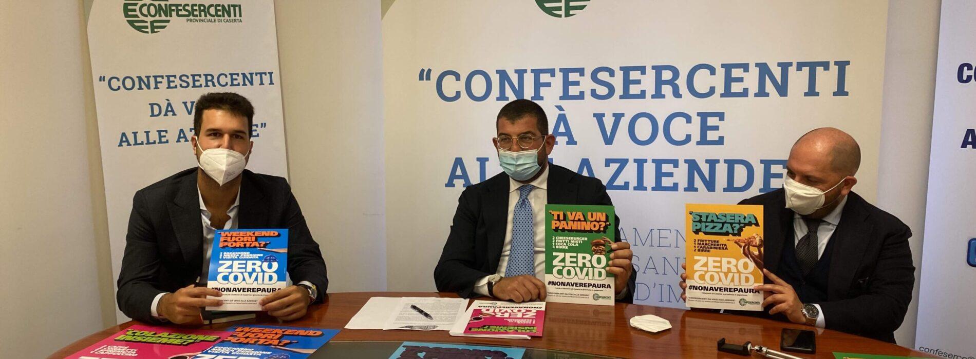 Confesercenti. Al via la campagna Zero Covid #nonaverepaura