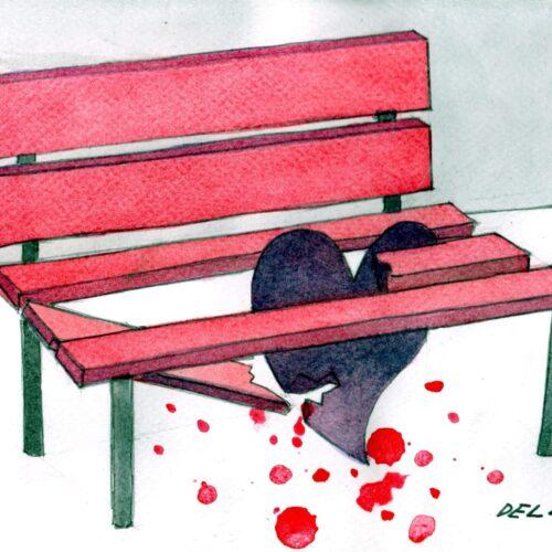 Stop alla violenza. Una panchina rossa per le vittime di femminicidio