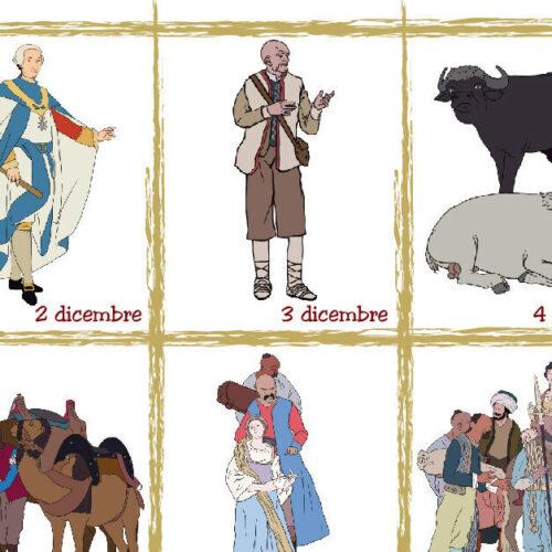 Reggia, il calendario dell'Avvento con i pastori del Presepe