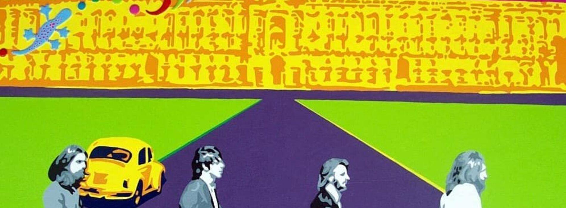 Lennon a spasso davanti alla Reggia, omaggio pop di Vaccaro