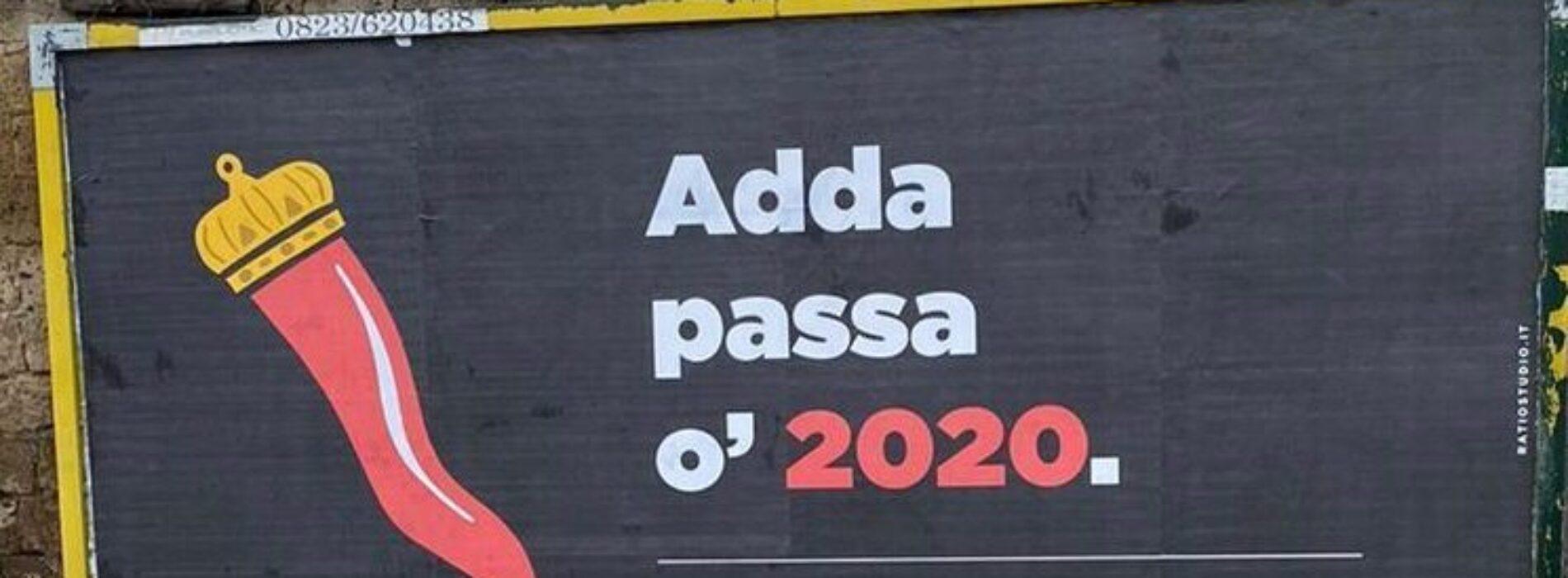 Adda passà 'o 2020, guerrilla marketing del team Ratiostudio