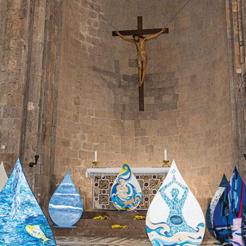 Gocce d'Acqua, il Duomo di Casertavecchia inondato dall'arte