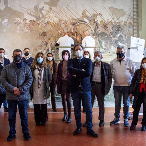 Super-Mann, si dà inizio al restauro del Mosaico di Alessandro