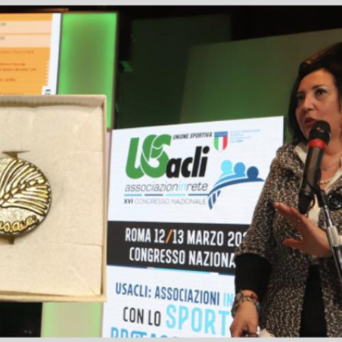 Francesca Dattilo è Spiga d'oro, premiata dall'UsAcli nazionale