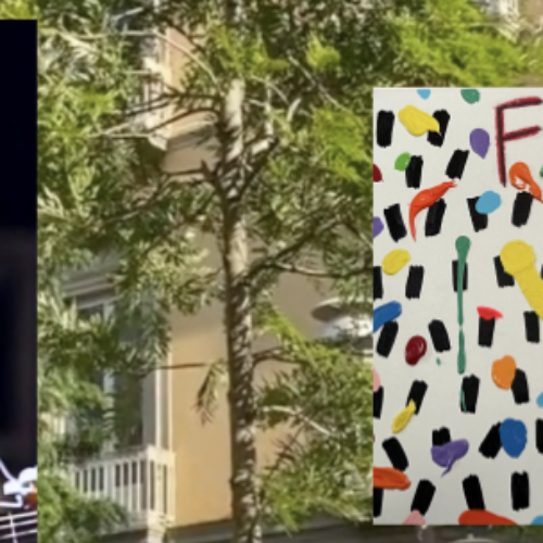 Quattro anni senza Fausto, art tribute di Donzelli per Mesolella
