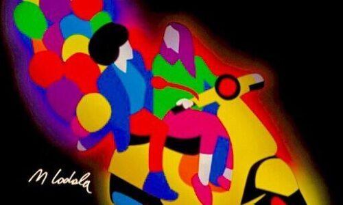 È Vespa Day! Omaggio di Marco Lodola ai 75 anni dello scooter