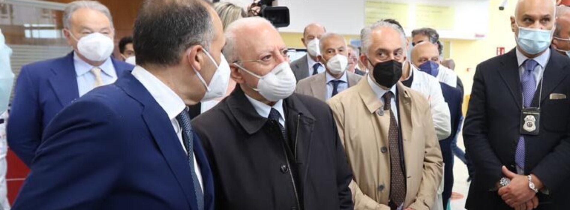 Emodinamica, De Luca a Caserta inaugura una nuova sala