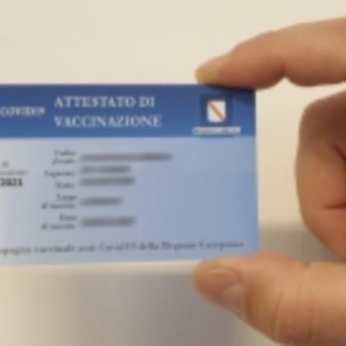 Card vaccinali ai casertani, la consegna è all'Urp del Comune