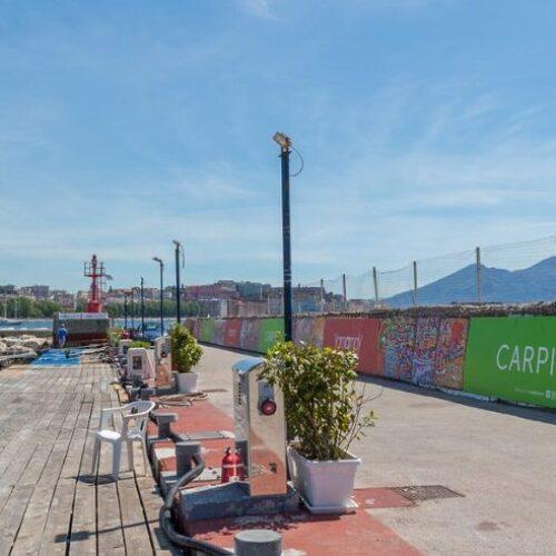 Benvenuti in Campania! Al Molo Luise il murale di Ciambrone