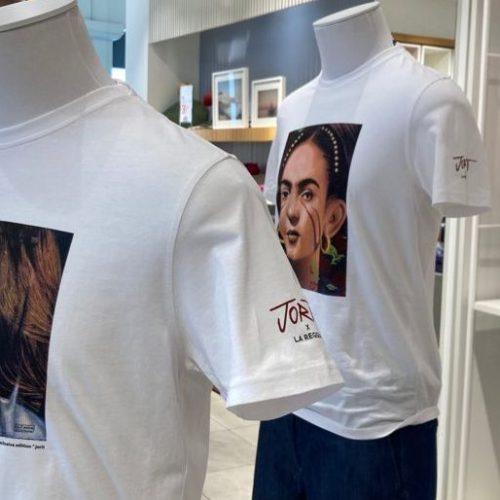 Le tre donne di Jorit, T-shirt Harmont&Blaine all'outlet Reggia