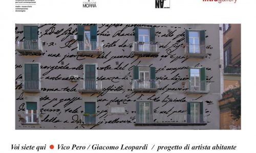 Poeta a muro, Eugenio Giliberti omaggia Leopardi con la luce