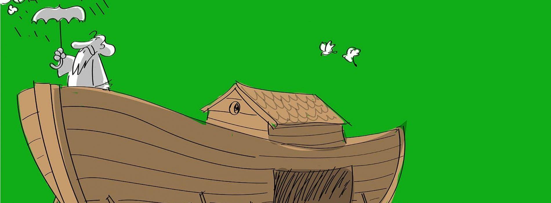 L'Arca di Noè, un'opera di Covino all'Ospedale di Caserta