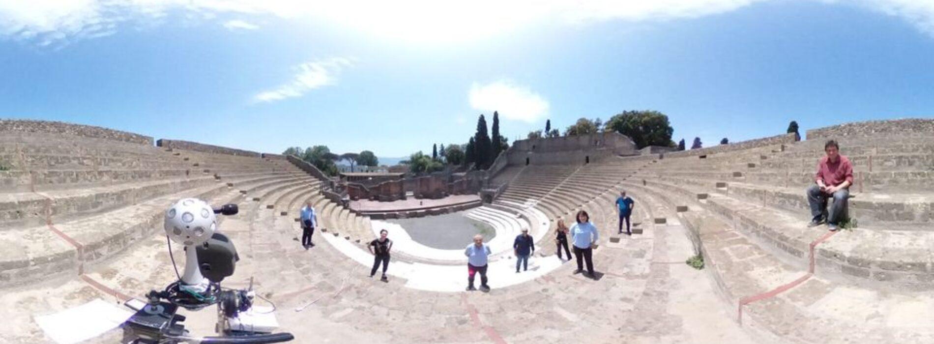 Prove tecniche di acustica, studi avanzati nei teatri di Pompei