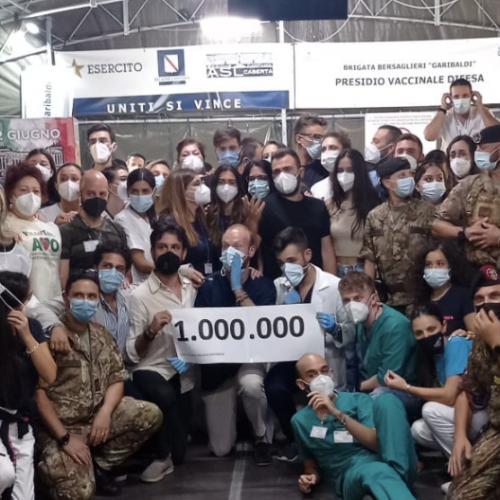 Vaccinazioni a quota un milione, decisiva la Brigata Garibaldi